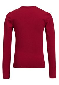WE Fashion - MET OVERSLAGDETAIL - Longsleeve - red - 3