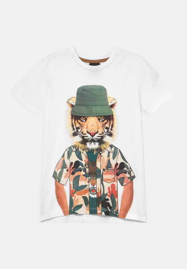 TROELS - T-shirt print - bright white