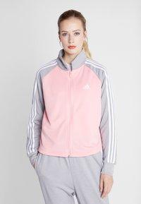 adidas Performance - GAMETIME - Treningsdress - glow pink/medium grey heather - 0