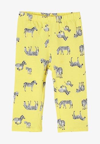 Leggings - Trousers - light yellow aop