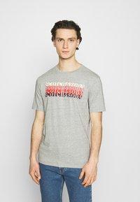 Scotch & Soda - LOGO - T-shirt print - grey melange - 0