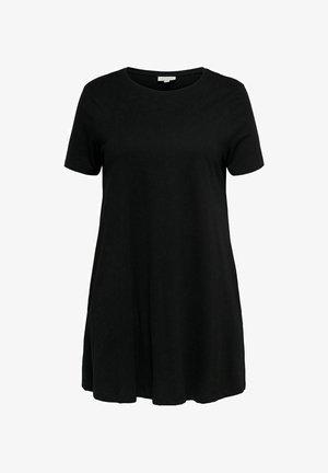 CURVY LOOSE FIT - Jersey dress - black