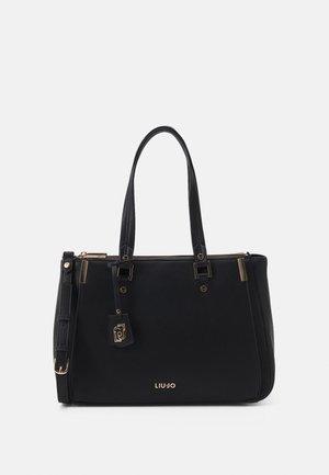 DOUBLE ZIP SATCHEL - Handbag - nero