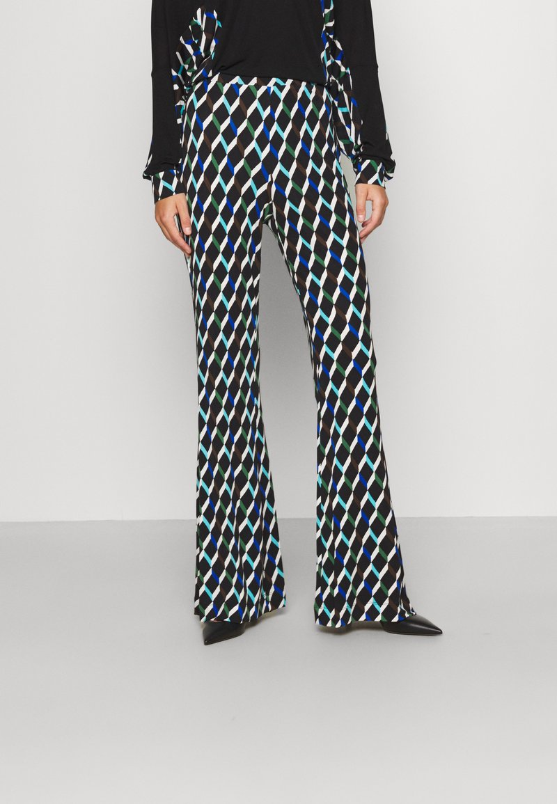 Diane von Furstenberg - BROOKLYN PANTS - Trousers - black
