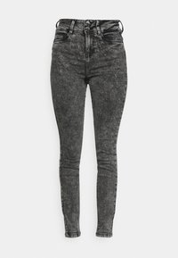 NMAGNES BUTTON - Jeans Skinny Fit - black denim