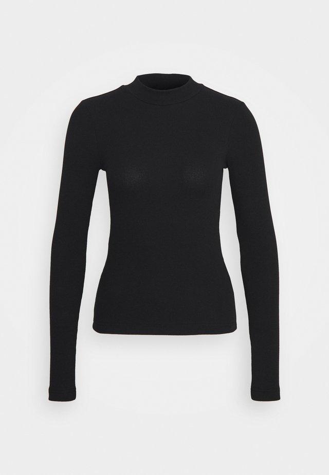 MOCKNECK - Long sleeved top - black