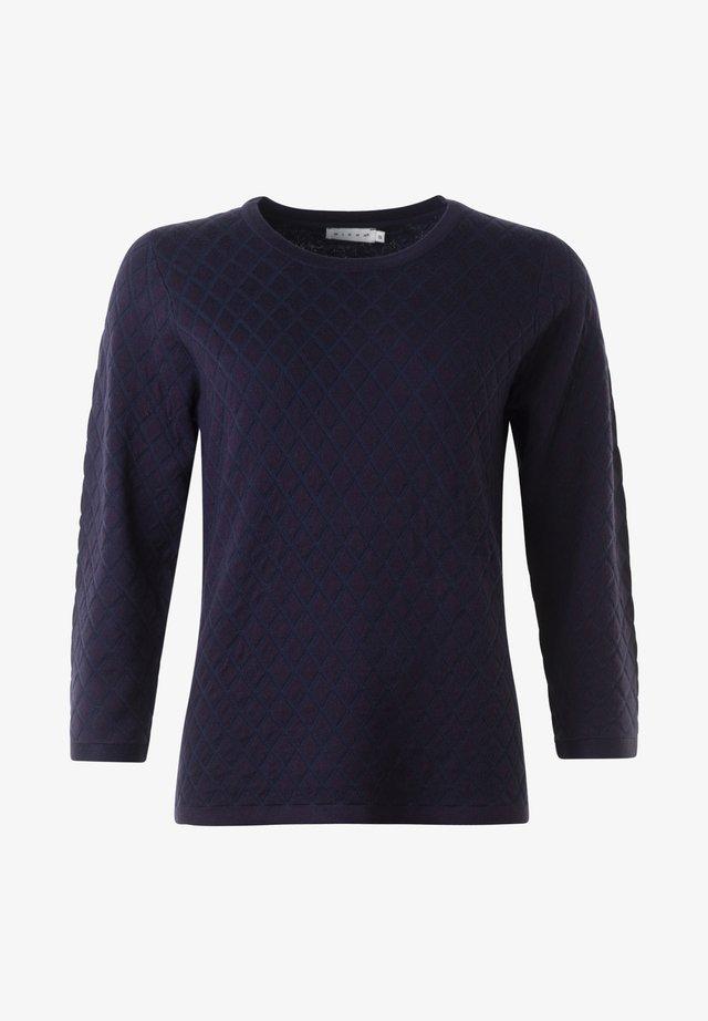 ELAINE - Stickad tröja - navy