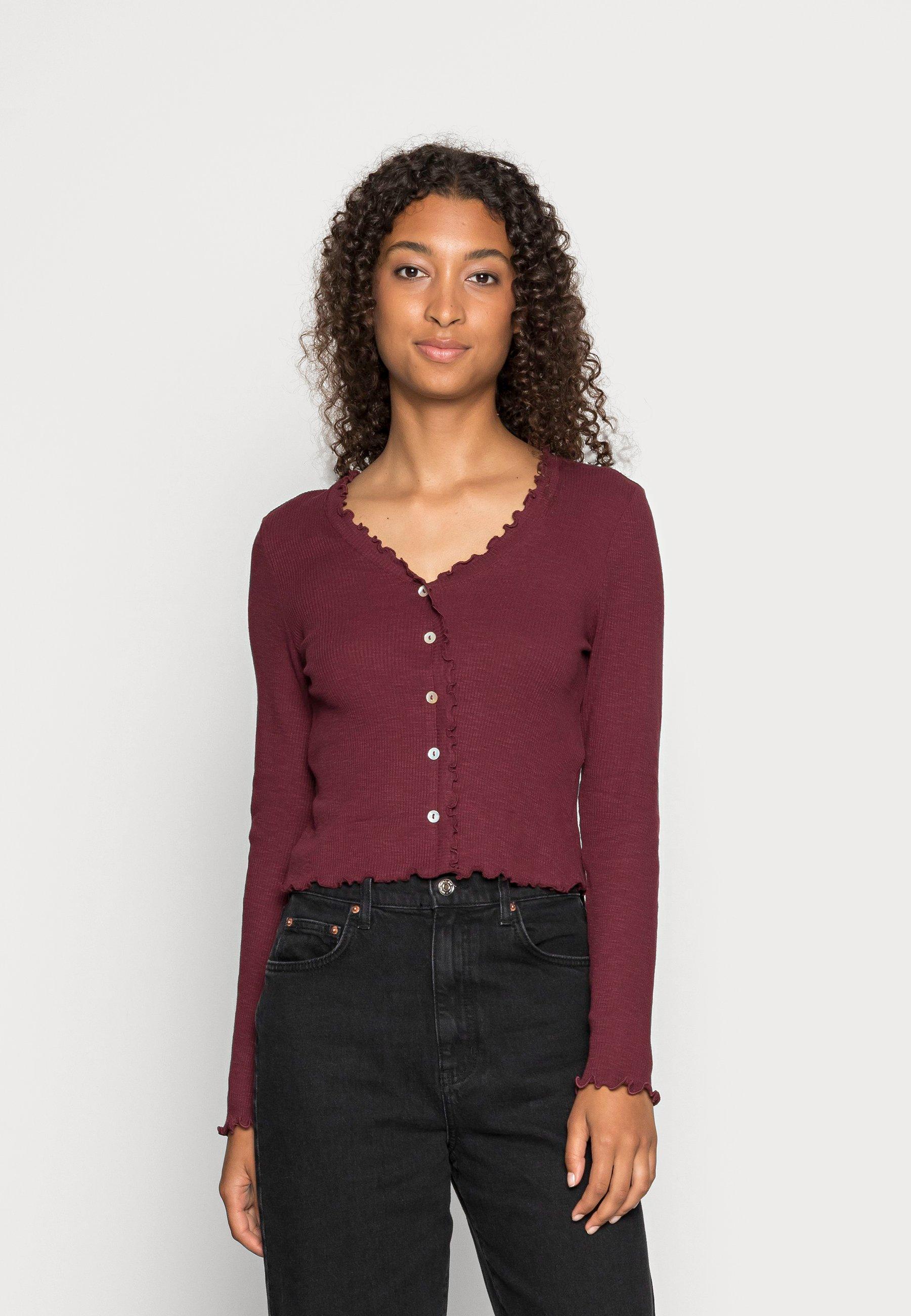 Femme VMANITA  V-NECK BUTTONS - T-shirt à manches longues