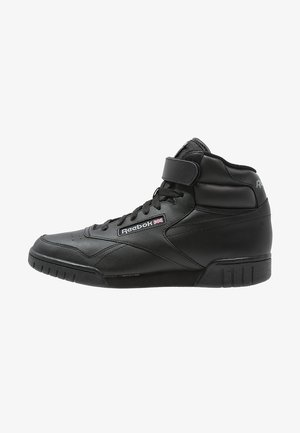 EX-O-FIT LEATHER SHOES - Sneakersy wysokie - black