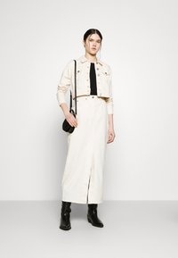 ONLY - ONLWESTA COLOR CROPPED JACKET - Denim jacket - whitecap gray - 1