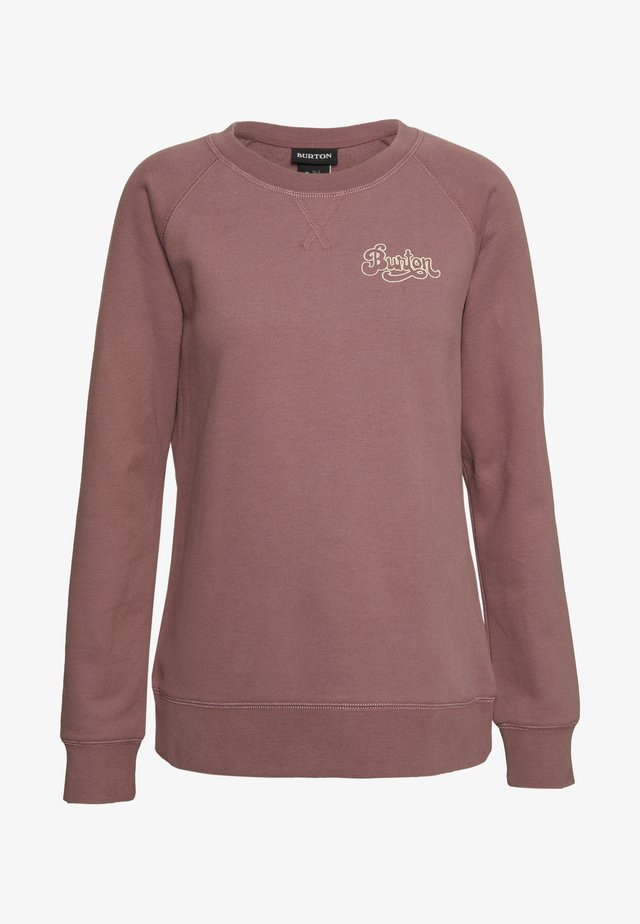 KEELER CREW - Sweatshirt - rose brown