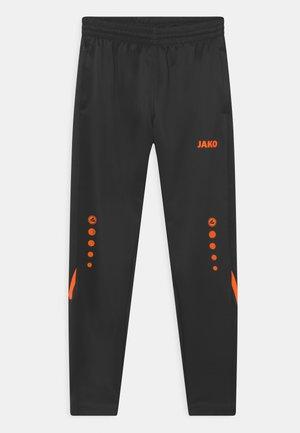 CHALLENGE UNISEX - Pantalones deportivos - schwarz/neonorange