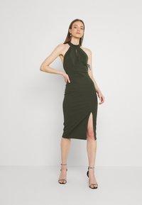 WAL G. - JAYNE LEE HALTER NECK DRESS - Cocktail dress / Party dress - khaki - 0