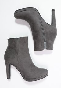 Buffalo - High heeled ankle boots - grey - 1