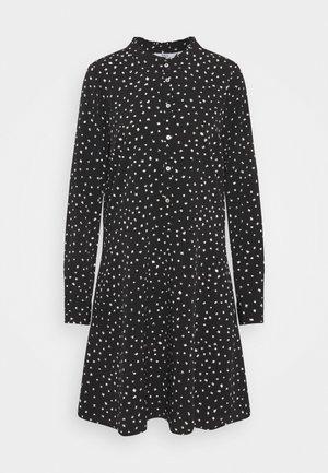SPOT DRESS - Skjortekjole - black