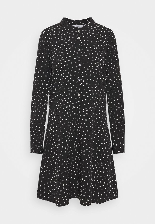 SPOT DRESS - Blousejurk - black