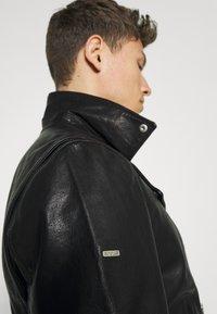 Superdry - MOTO BIKER - Leather jacket - black - 5