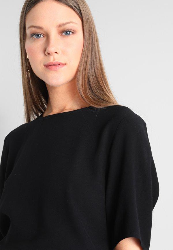 Selected Femme SFTANNA TOP - Bluzka - black/czarny QOHI