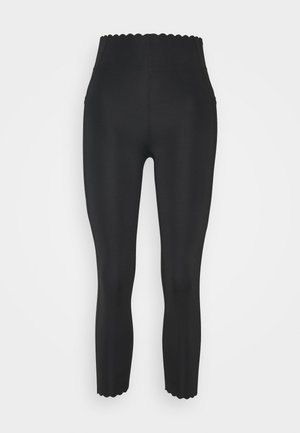 SCALLOP HEM 7/8  - Tights - black