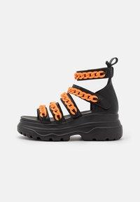 Koi Footwear - VEGAN STRIDENT CHAIN  - Platform sandals - black - 0
