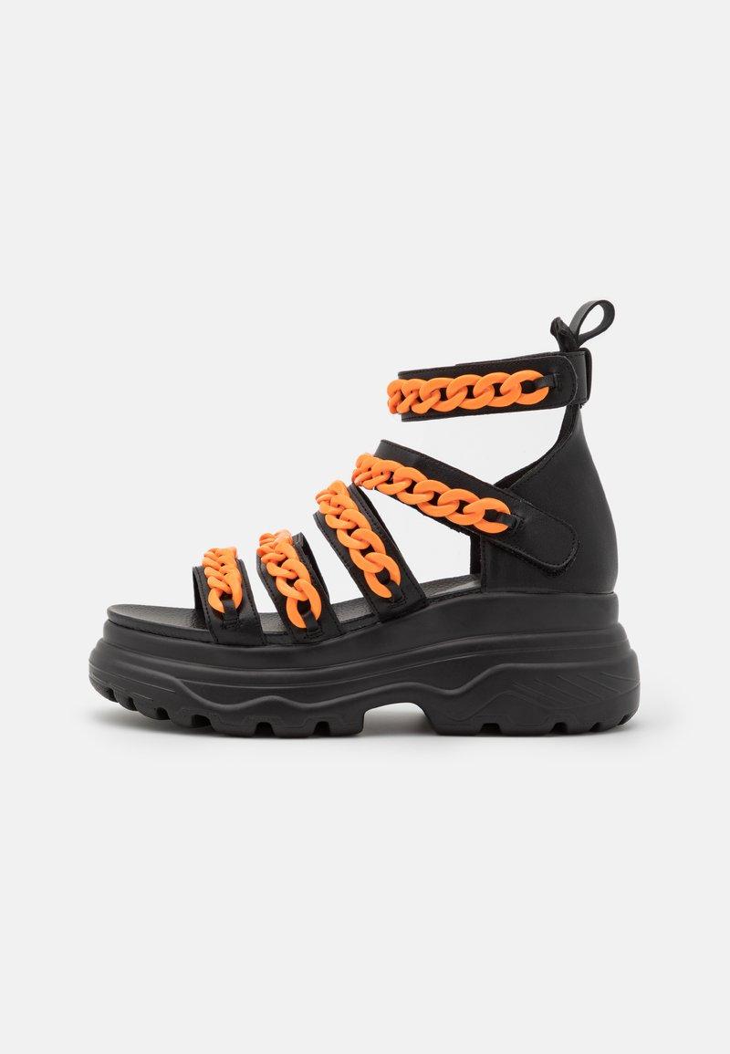 Koi Footwear - VEGAN STRIDENT CHAIN  - Platform sandals - black