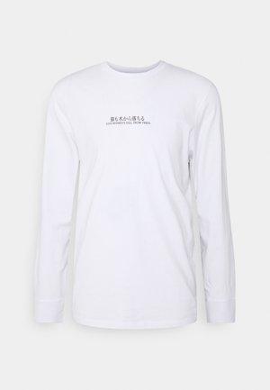 ONSTOMO LIFE TEE - Pitkähihainen paita - white