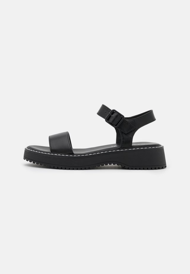 HARIS - Sandały na platformie - black