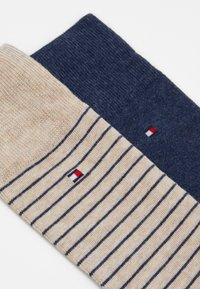 Tommy Hilfiger - MEN SMALL STRIPE SOCK 2 PACK - Chaussettes - beige/blue - 1