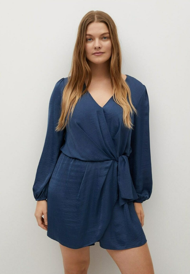 Violeta by Mango - COURT FLUIDE - Jumpsuit - bleu électrique
