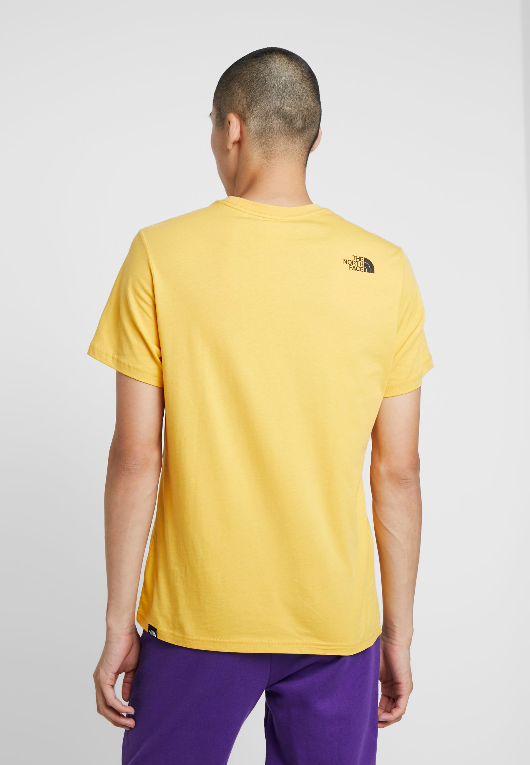 The North Face FINE TEE - Print T-shirt - yellow vVbx5