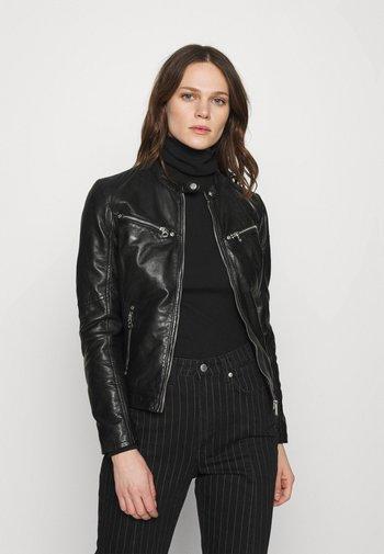 CHARLEE LAORV - Leather jacket - black