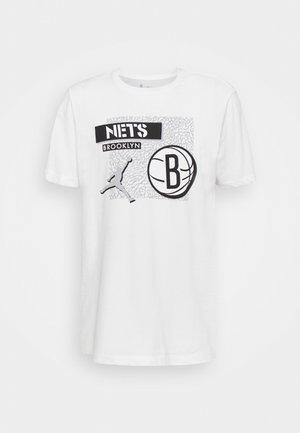 NBA BROOKLYN NETS STATEMENT JORDAN STATEMENT TEE - Pelipaita - white