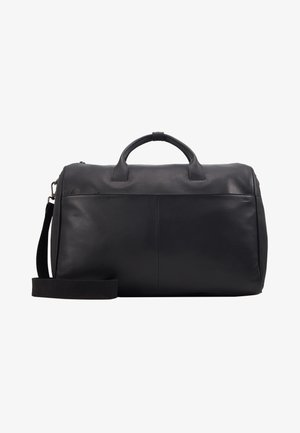 UNISEX LEATHER - Weekend bag -  black