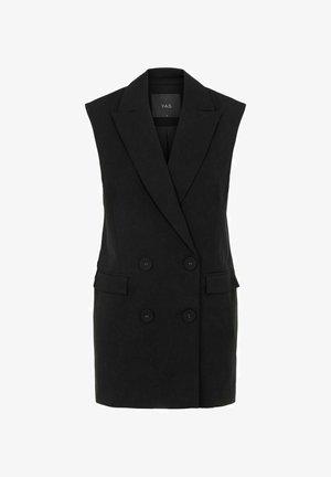 YASCORNFLOWER LONG WAISTCOAT - Waistcoat - black