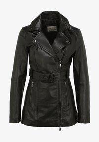 7eleven - Leather jacket - black - 3