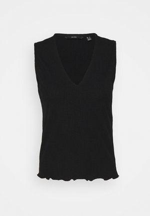 VMFRANCA V NECK - Top - black