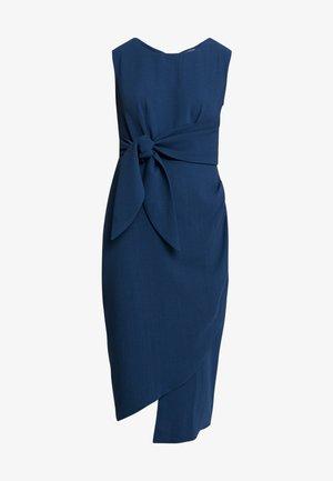 DRAPE PENCIL DRESS WITH TIE - Etuikjole - blue