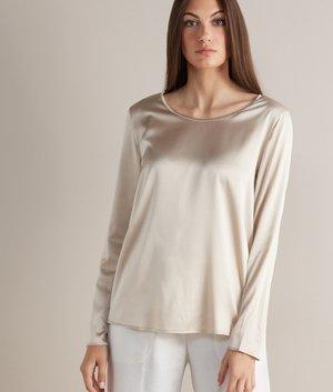 Long sleeved top - madreperla light