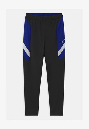DRY ACADEMY - Joggebukse - black/deep royal blue/white