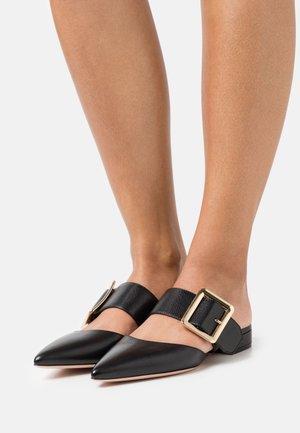 JEMINA FLAT - Pantolette flach - black