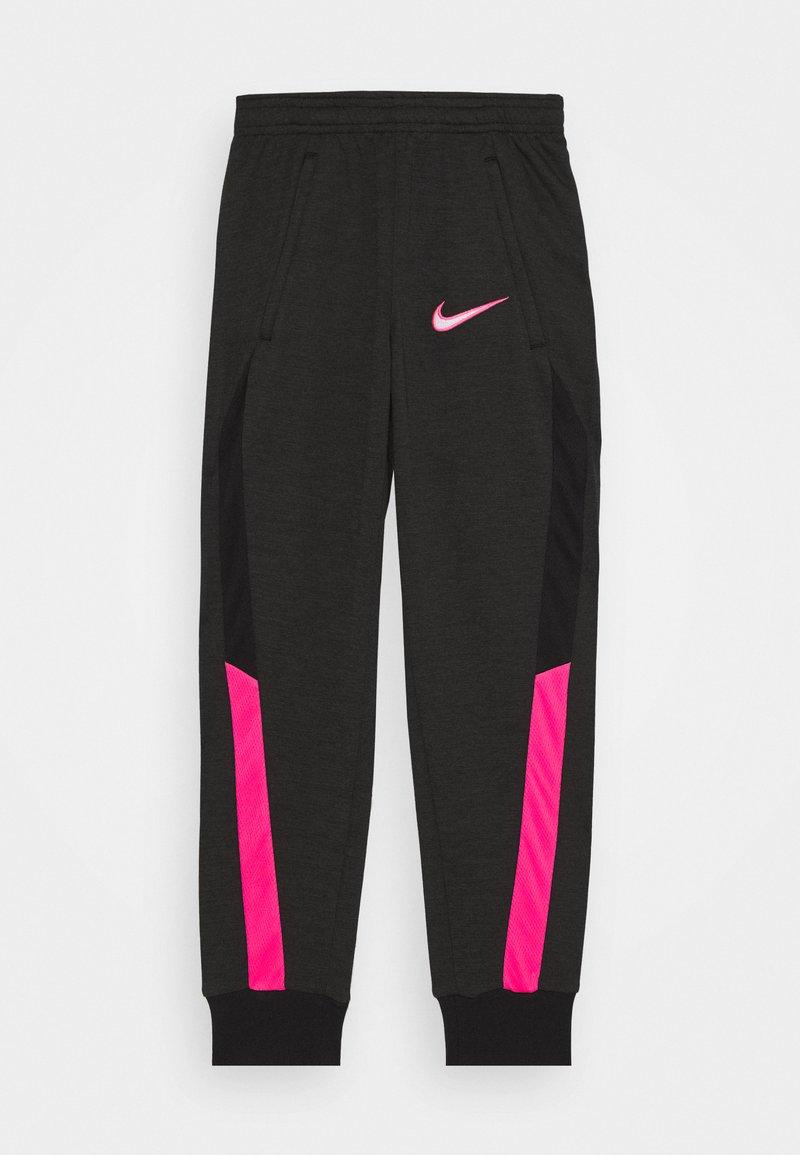 Nike Performance - DRY ACADEMY - Tracksuit bottoms - dark smoke grey/heather/hyper pink/hyper pink