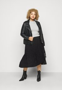 Pieces Curve - PCPERSILLA  - A-line skirt - black