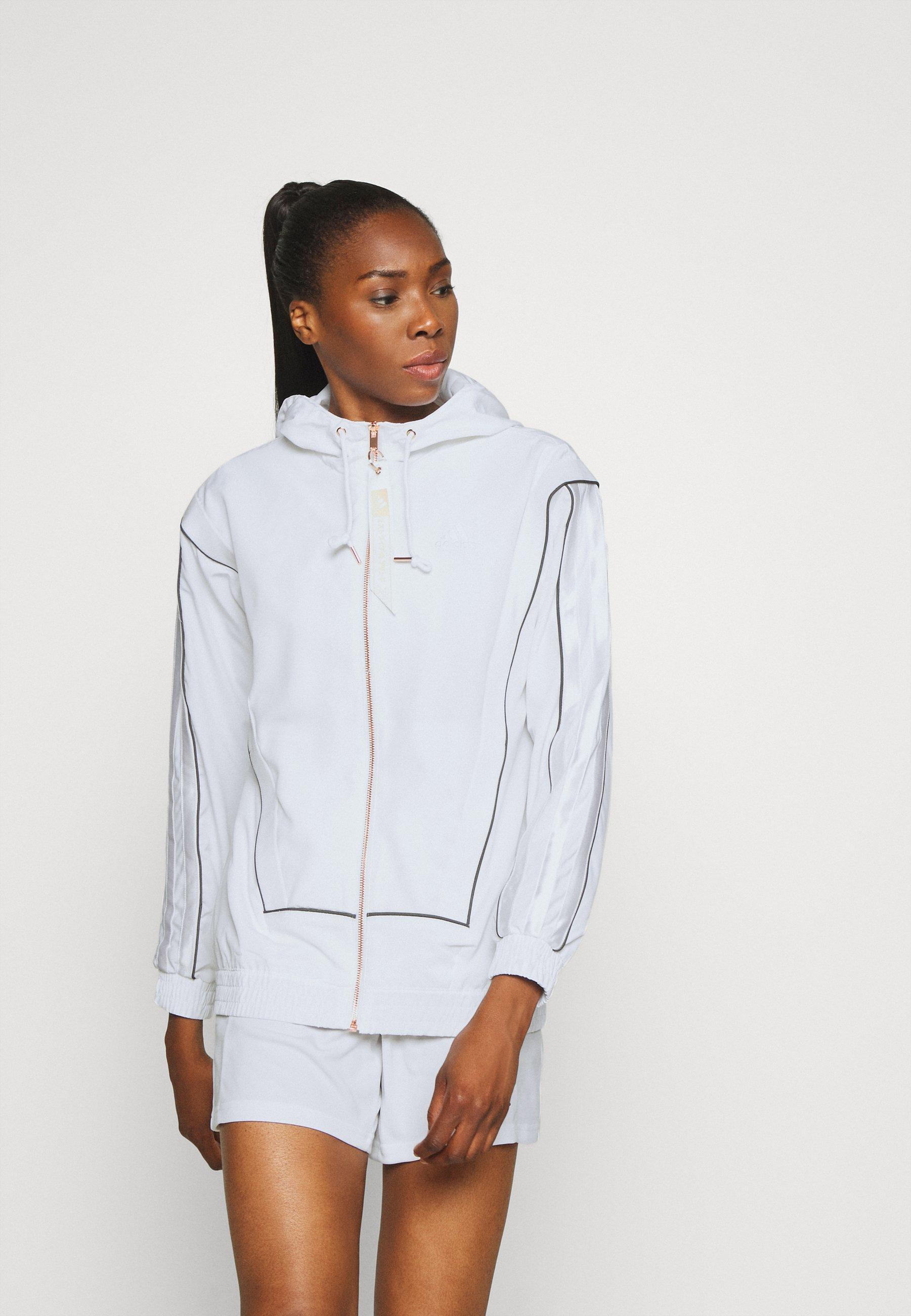 Factory Outlet Women's Clothing adidas Performance AEROREADY PRIMEGREEN SPORTS BASKETBALL JACKET Training jacket white uNEWs20OS