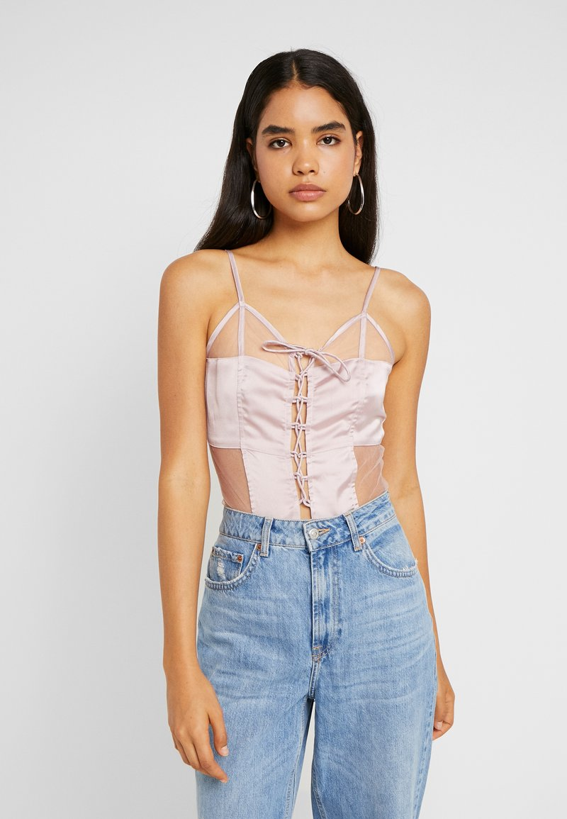 Missguided Tall - UP BODYSUIT - Top - pink