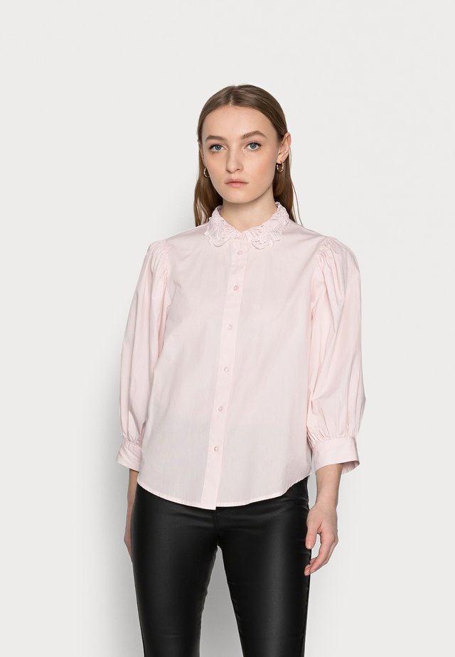 SLFROMANCE 3/4 PUFF SLEEVE - Button-down blouse - primrose pink