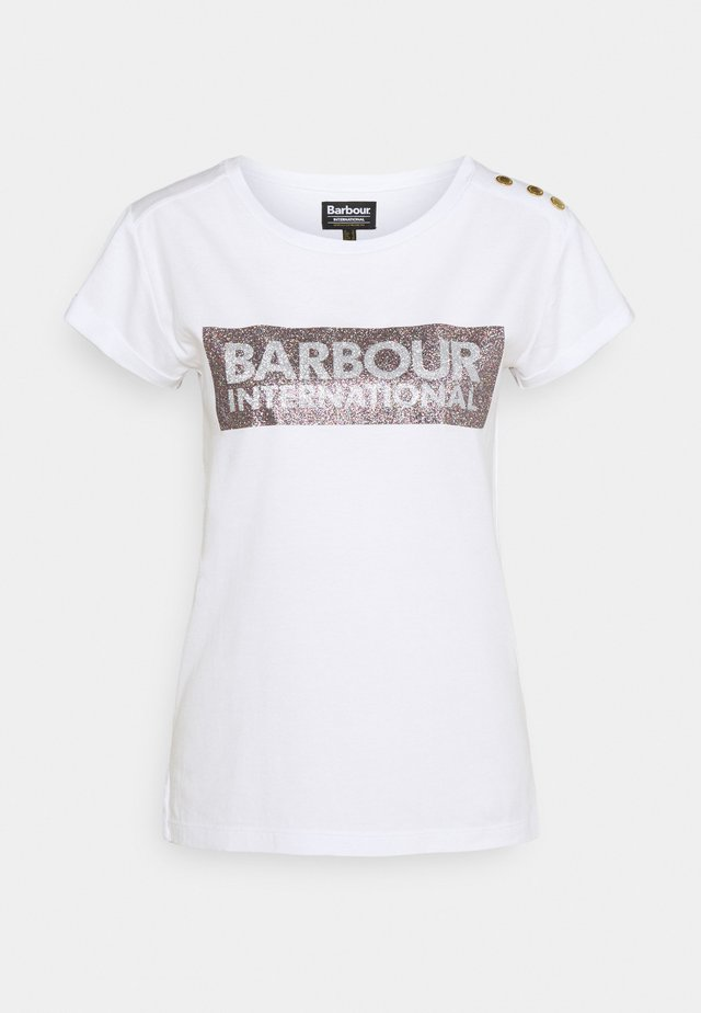 BURNOUT TEE - Print T-shirt - white