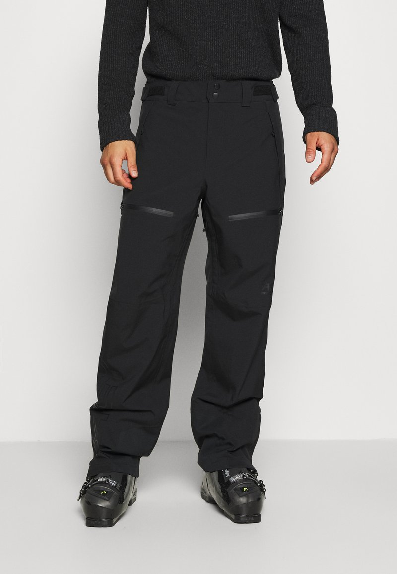Oakley - LINED SHELL PANT - Snow pants - blackout