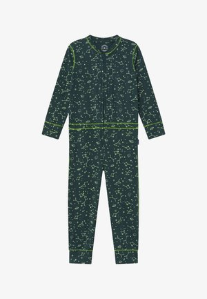 BOYS ONEPIECE - Pyjamas - dark green/light green