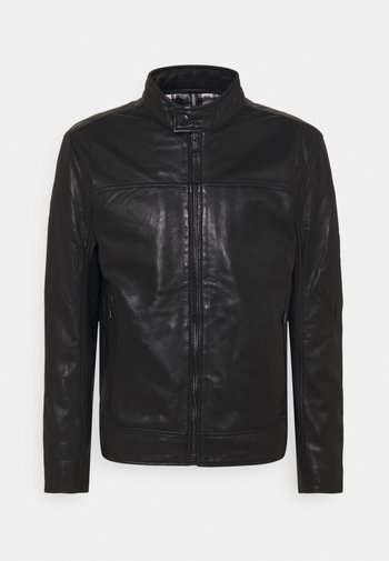 CLEARY - Leather jacket - black