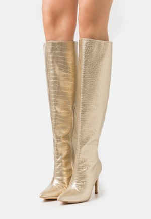 MID KNEE BOOTS - Bottes - gold